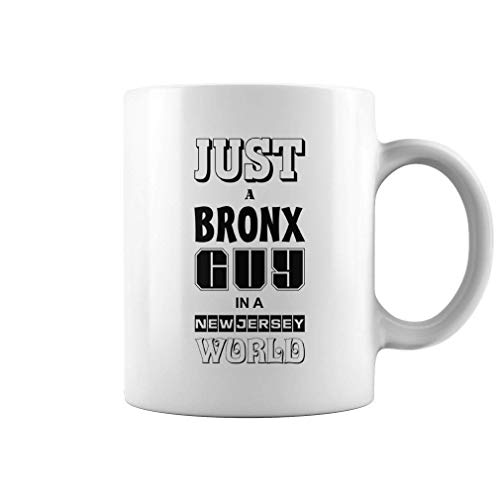 11 Ounce Stoneware - just a bronx guy in a new world | 11 oz funny coffee mug
