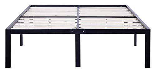 Olee Sleep 14 Inch Tall T-3000 Ultra Wood Slat Steel / Non-Slip Bed Frame 14BF06Q