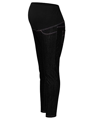 Maternity Leg Wide Jeans - GINKANA Maternity Jeans Pants Slim Leg Over The Belly Leggings Stretchy Bootcut Pants