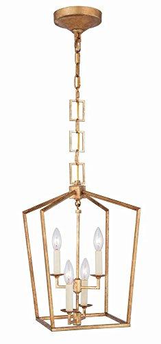 Elegant Lighting Denmark 4 Light Pendant in Golden - Denmark Pendant Light 4