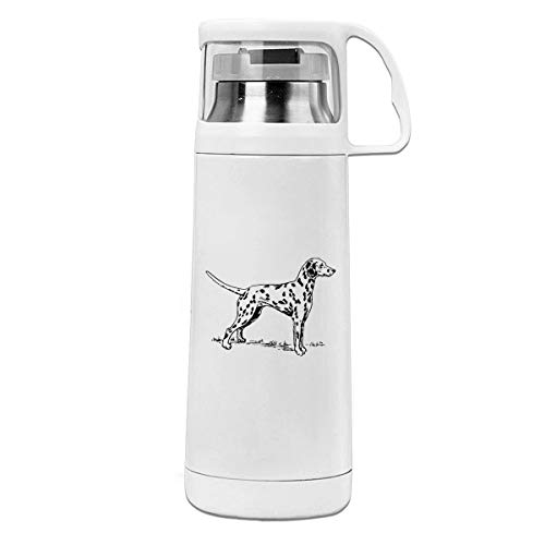 (LUNKING Dalmatian Dog Portable Creative Water Cup Cover Cup Mug. )