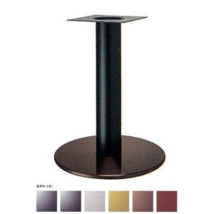 e-kanamono テーブル脚 ソフトS7440 ベース440φ パイプ101.6φ 受座240x240 ジービー/塗装パイプ AJ付 高さ700mmまで 黒メラ焼塗装 B012CF4L6E 黒メラ焼塗装 黒メラ焼塗装