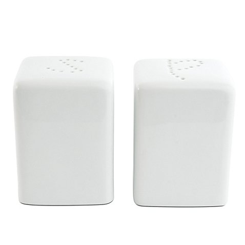Everyday White by Fitz and Floyd Square Salt and Pepper Shaker Set