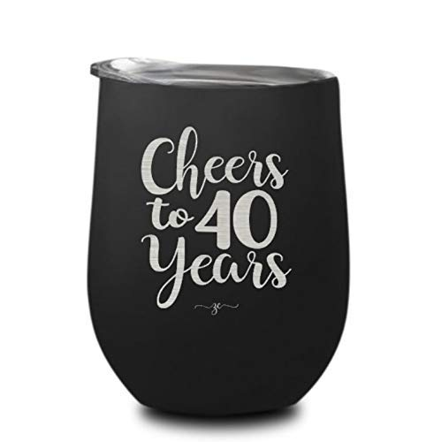 Amazon Cheers To 40 Years Wine Glass Tumbler Birthday Gifts For
