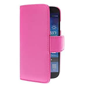 CeeMart Rose PU Leather Full Body Case with Stand and Card Slot for Samsung Galaxy S4 I9500