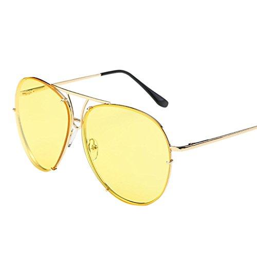 Turkey grande aviador de morado morado superior y estilo lujosas parte sol espejo grandes plana de de tamaño Gafas lentes amarillo unisex gwtSaqg