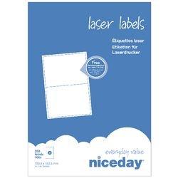 Niceday - Etiquetas para impresoras láser, 199,6 x 143,5 mm 2 por ...