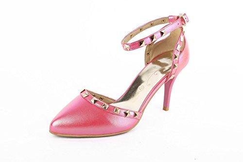 AN Womens Baguette-Style Huarache Studded Urethane Sandals DIU00778 Pink VuS3s5Ps