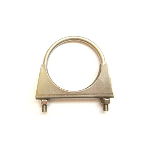 Universal Exhaust Pipe clamp + U-Bolt - 76 mm - T304 Stainless Steel Pack Size : 1 Graphskill