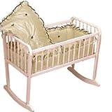 BabyDoll Prima Donna Cradle Bedding, Ecru, 15'' x 33''