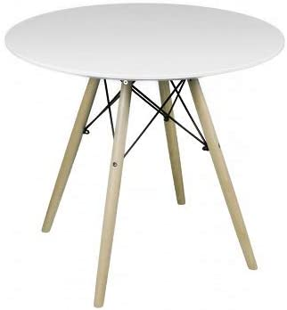 Night Pure Table A Manger Blanc Laque Mat Style Scandinave