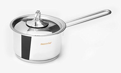 Base Encapsulated (Ybmhome Classic Stainless Steel Chef's Induction Compatible Sauce Pot Covered Multi-Purpose Cookware with Encapsulated Base H4LH (4 Quart Sauce Pot))