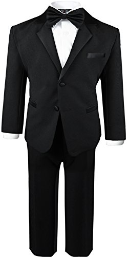 (Boys Infant and Toddlers Black Tuxedo Size 6)
