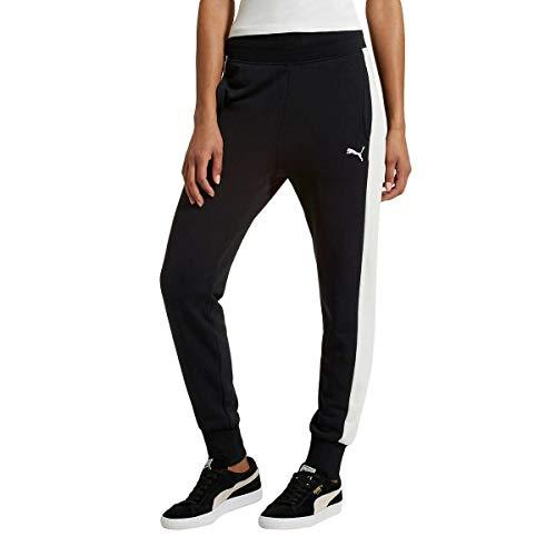 PUMA Women's Archive Logo T7 Athletic Active Sweat Pant (Black, XL)
