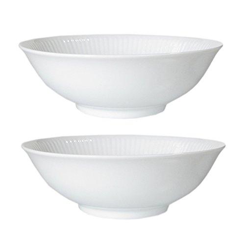 Royal Copenhagen White Fluted Cereal Bowl (Set of 2) 11.75  oz (Copenhagen White Porcelain)