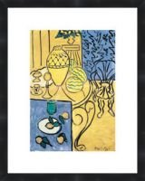 Interior in Yellow and Blue 1946 by Henri Matisse Framed Poster Print 11X14