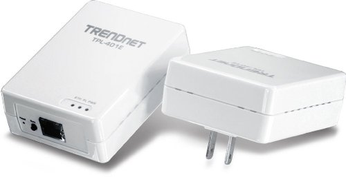 TRENDnet 500 Mbps Powerline Ethernet AV Adapter Kit TPL-401E2K (White) by TRENDnet