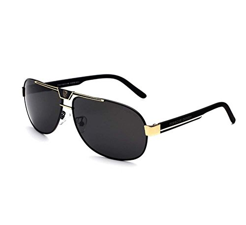Porsche new fashion sunglasses men polarized driving sunglasses sunglasses yurt driver block (Black)