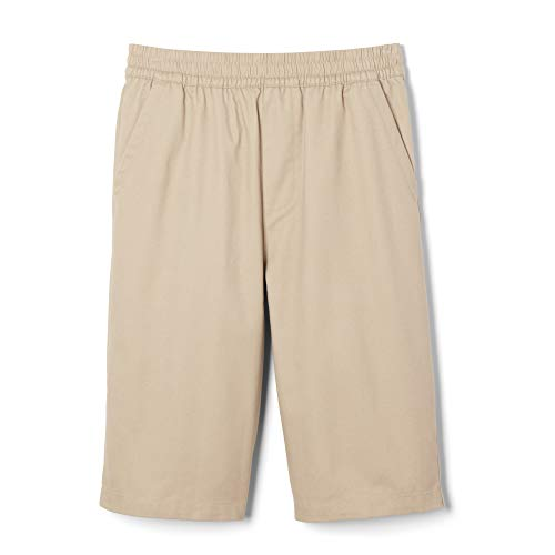 - French Toast Boys' Big' Pull-on Short, Khaki, 8