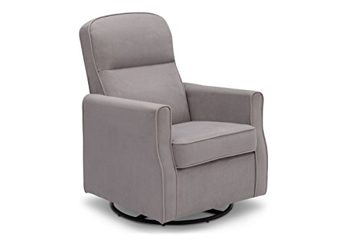 Delta Children Clair Slim Nursery Glider Swivel Rocker Chair, Dove Grey (See More Styles and Colors)