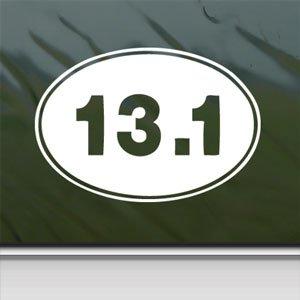 13 1 oval half marathon white sticker running runner white for 13 1 window sticker