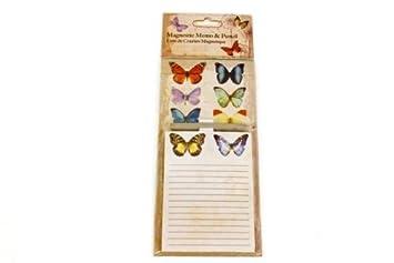 Kühlschrank Einkaufsliste Magnet : Schmetterling vintage design magnetischer notizblock & bleistift