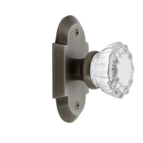 Nostalgic Warehouse Cottage Plate with Crystal Glass Door Knob, Passage - 2.75'', Oil-Rubbed Bronze by Nostalgic Warehouse
