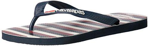 Havaianas Menns Toppen Usa Stripe Marineblå Flip Flop Marineblå