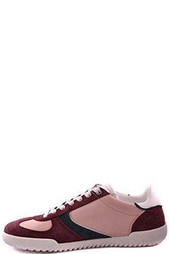 Dolce E Gabbana Herren Mcbi099352o Bordeauxrot/rosa Leder Sneakers