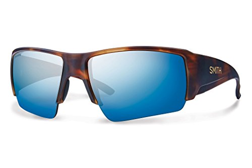 Smith Captains Choice Polarized ChromaPop+ Sunglasses Matte Havana/Blue Mirror, One Size - - Sunglasses Fishing Smith