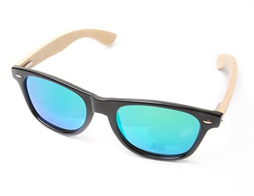 Bamboo Polarized Wayfarer Mirrored Sunglasses product image