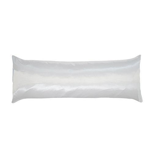 Betty Satin Pillowcase Dain (Betty Dain Soft Satin Body Pillowcase, 21 x 54, White)