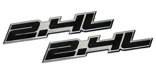 2 x (pair/Set) 2.4L Liter Embossed BLACK on Highly Polished Silver Real Aluminum Auto Emblem Badge Nameplate for Saturn Sky Buick Regal Lacrosse CXL Pontiac Solstice Grand AM Sunfire GT Chrysler 200 PT Cruiser Sebring Chevrolet Malibu Equinox LT HHR Cobalt Cavalier Captiva GMC Terrain SLE Dodge Dart Avenger Caliber Caravan Journey SXT Express Stratus NEON SRT4 Jeep Compass Latitude Patriot Sport Wrangler Liberty Cherokee SUV Sport Utility sedan coupe FWD AWD 4WD 2dr 3dr 4dr hatchback (Pontiac Grand Am Gt Decals compare prices)