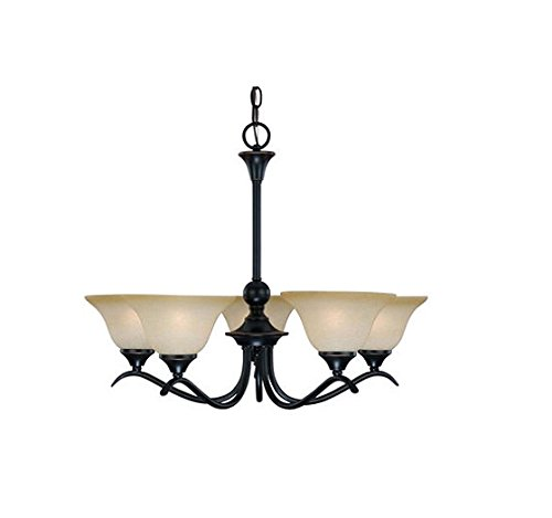 Hardware House 127547 Chandelier, 5 Light Dover Series/Classic Bronze