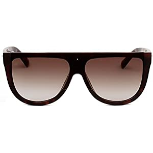 """PRIVÉ REVAUX ICON Collection """"The Coco"""" [Limited Edition] Handcrafted Designer Oversized Sunglasses For Men & Women (Grey Tortoise)"""