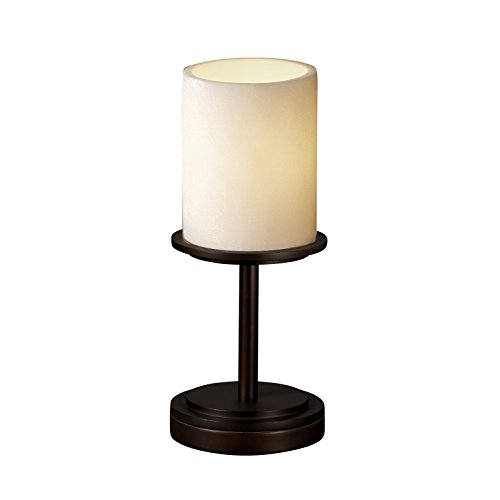 Justice Design Group CandleAria 1-Light Table Lamp - Brushed Nickel Finish with Cream Faux Candle Resin ()
