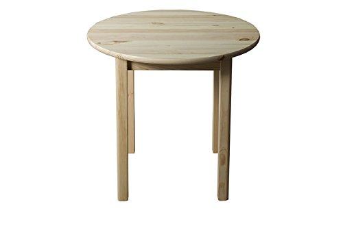 Tisch Kiefer massiv Vollholz natur 003 (rund) - Höhe 75 cm ...