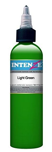 Intenze Tattoo Ink - Light Green - 1/2oz Bottle - Intenze Light