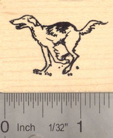 Borzoi Russian Wolf Hound Dog Rubber Stamp