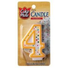 Numeral Candle No 4 1 Ct (Pack of 6) by Cake Mate (Image #1)