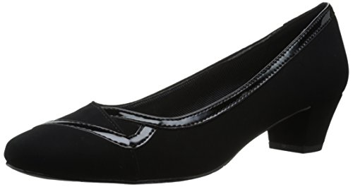 Easy Street Women's Vicki Dress Pump Black Lamey/Black Patent pQniVpIW2