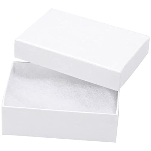 Empty jewelry boxes amazon 25 white swirl cotton charm jewelry boxes gift display 2 18 x 1 58 x 34 sciox Gallery