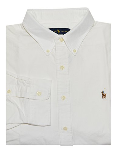 Ralph Lauren Men Solid Sport Oxford Shirt  Medium  White