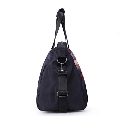 Lcslj Printed Zippered Handbag Lion Travel Bag Traveling Handbag Handbags for Travel