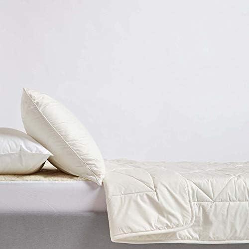 HOMESCAPES Couette en Laine Biologique 260 x 220 cm - légère Naturelle et Confortable