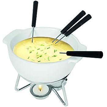 BOSKA 853548 Party Cheese Fondue Set, 750ml, White