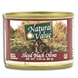 Natural Value Ripe Sliced Black Olives 48x 2.25Oz