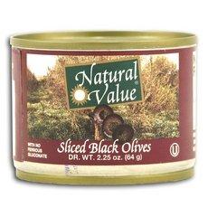 Natural Value Ripe Sliced Black Olives 96x 2.25Oz by Natural Value