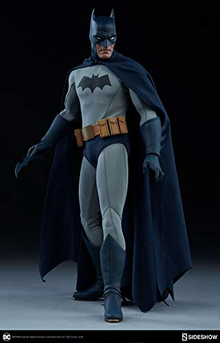 Collectors Row Sideshow Batman 1/6 Sixth Scale Dark Knight DC Blue Grey Suit Action Figure