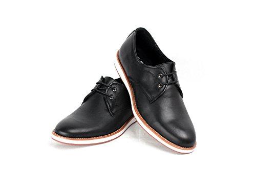 JAS - Zapatos de cordones de Material Sintético para hombre Regular negro